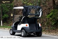 High End 2 Seater Golf Cart , Electric Powered Golf Carts With Rear Cover