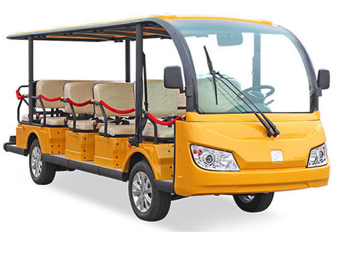 Mini Electric Tourist Bus With Four Wheels Hydraulic Braking System
