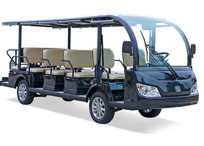 100% Waterproof Electric Sightseeing Cart For 14 Passenger AC system